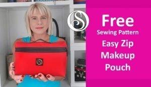 Free sewing pattern. Make up bag2
